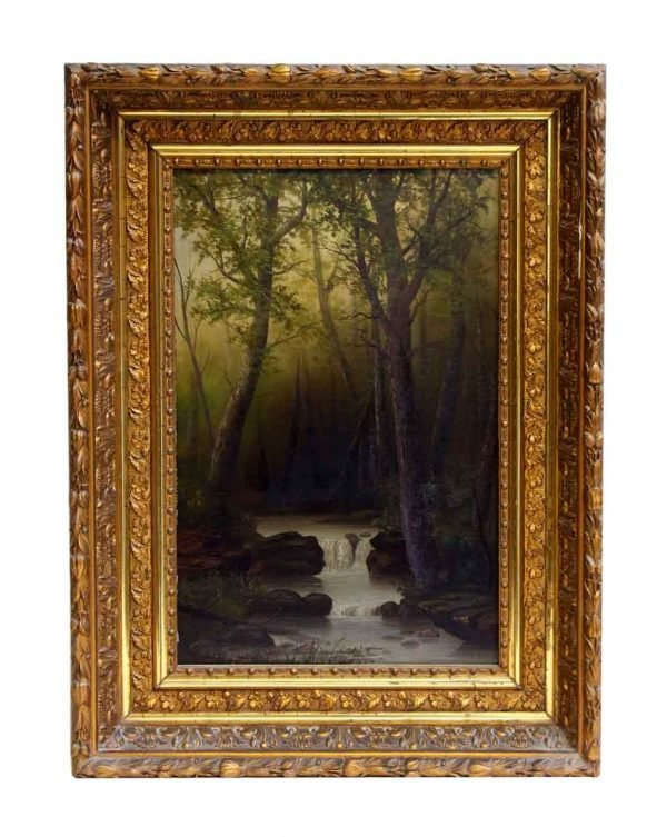 Ornately Framed Scenic Painting