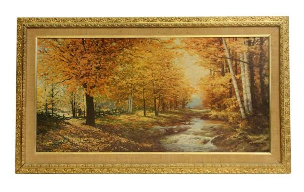 Ornately Framed Scenic Autumn Replica Print
