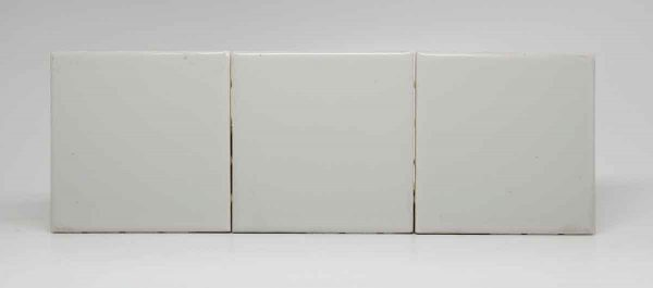 Set of Three Pale Gray Square Tiles