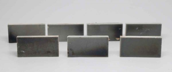 Set of Seven Iridescent Gray Rectangle Tiles