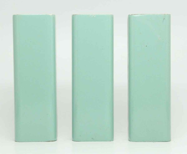 Set of Three Thick Teal Subway Tiles