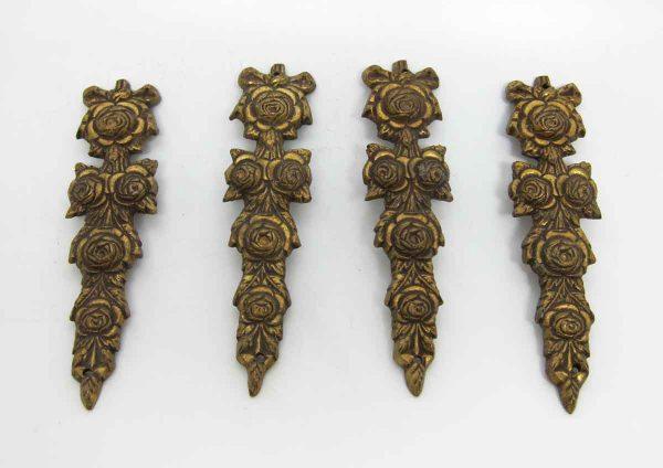 Set of Four Floral Bronze Furniture Pieces