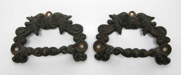 Pair of Vintage Brass Decorative Handles
