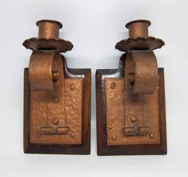 Pair of Arts & Crafts Candle Stick Holders