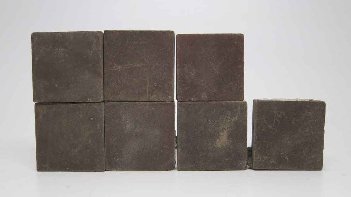 Set Of Seven Brown Small Square Tiles Olde Good Things