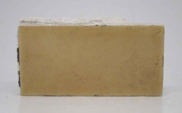 Set of Four Dark Yellow Floor Tiles