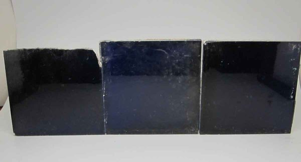Set of Three Dark Blue Tiles