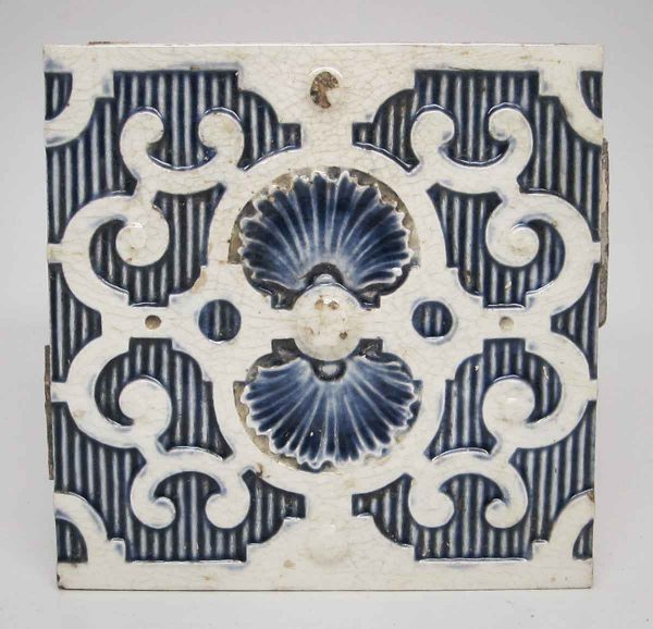 Set of 16 Blue & White Decorative Tiles