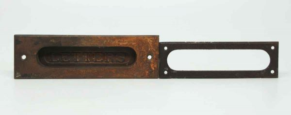 Bronze Letters Slot with Back Plate