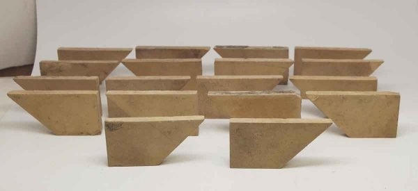Set of 18 Odd Shaped Tan Tiles