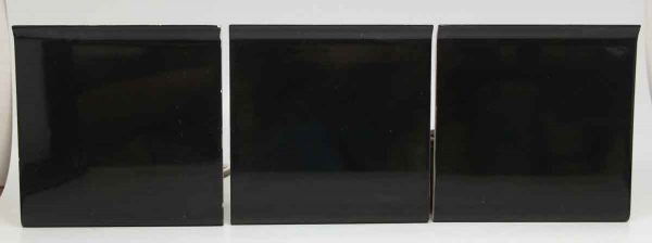 Set of Three Black Square Tiles