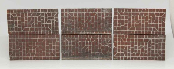Set of Six Rectangular Brick Like Tiles