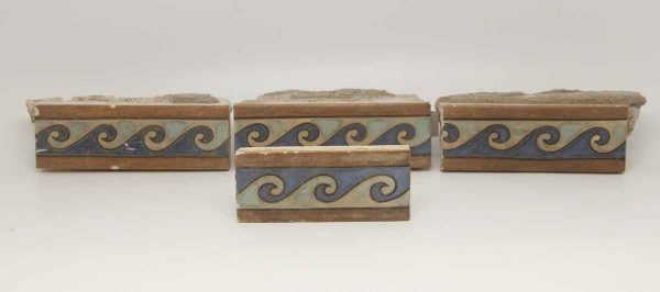 Set of Four Multi Color Decorative Tiles