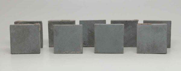 Set of Nine Small Square Blue Tiles