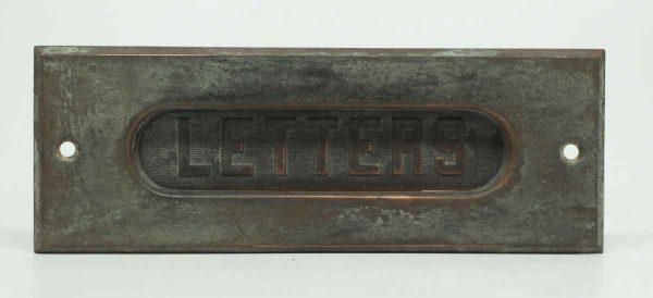 Bronze Mail Slot with Original Patina