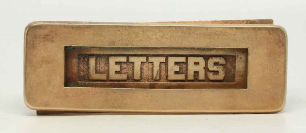 Bronze Letter Slot with Back