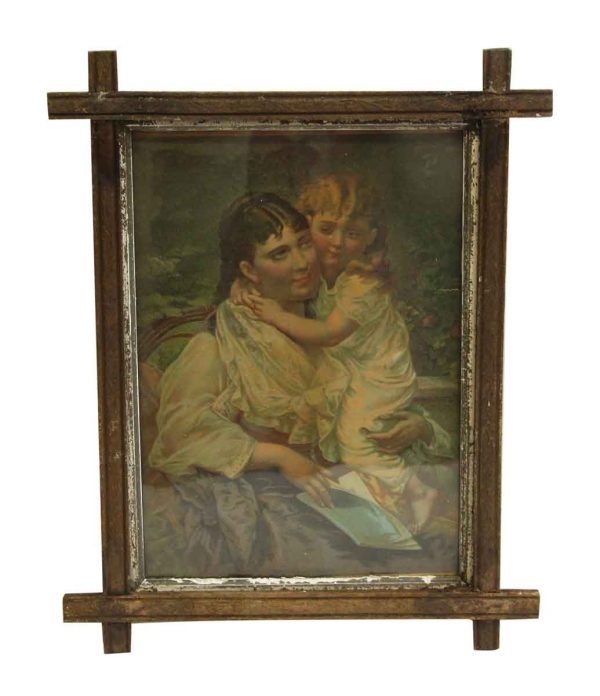 Framed Wooden Portrait