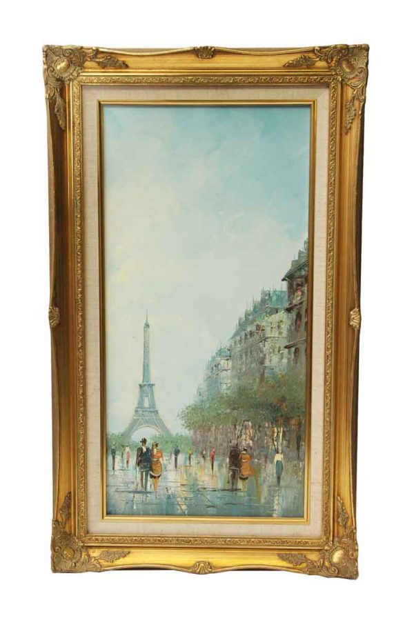 Ornate Framed Parisian Oil Painting