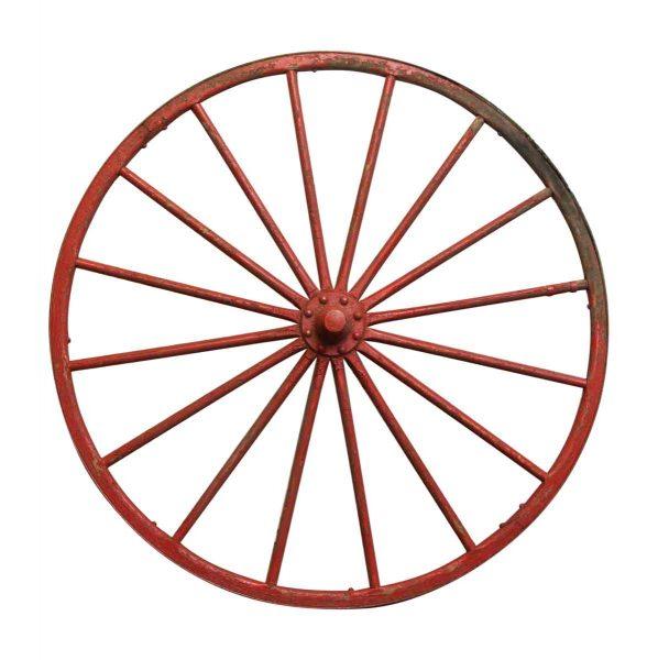 Red Metal Wood Wheel