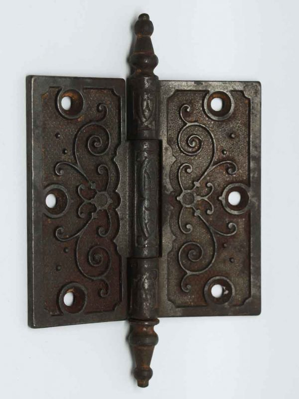 Pair of Victorian Ornate Iron Hinges