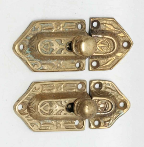 Pair of Gilded Ornate Cabinet Latches