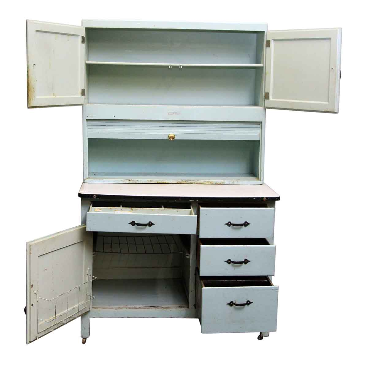 Painted hoosier cabinet