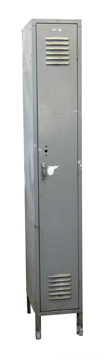 Tall Gray Reclaimed Metal Locker