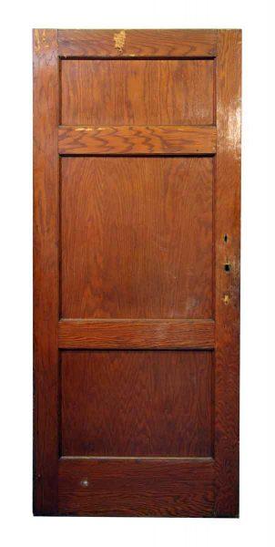 Triple Panel Wooden Door
