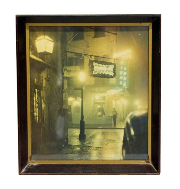 Wood Framed New Orleans Bourbon Street Print