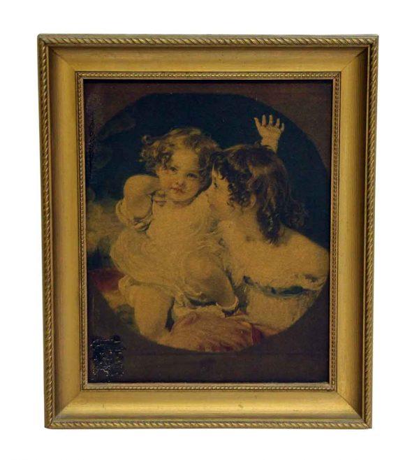the Calmady Children Framed Antique Portrait