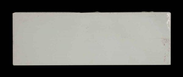 Thick White Smooth Horizontal Tile