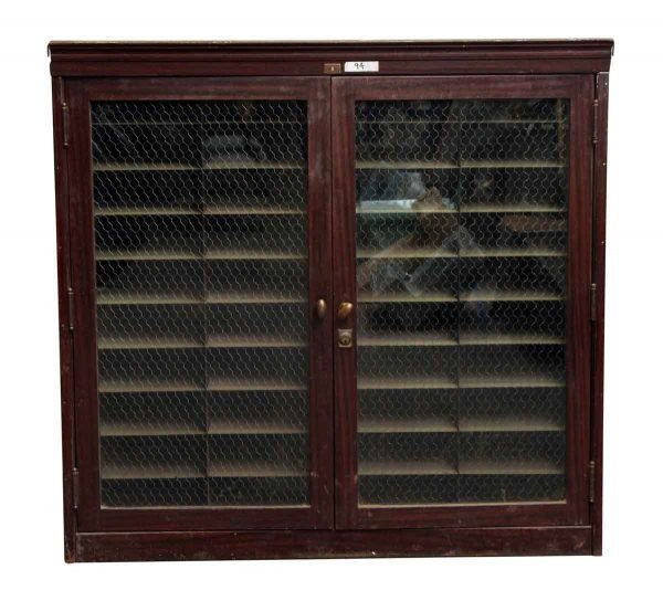 Metal Cabinets with Chicken Wire Glass