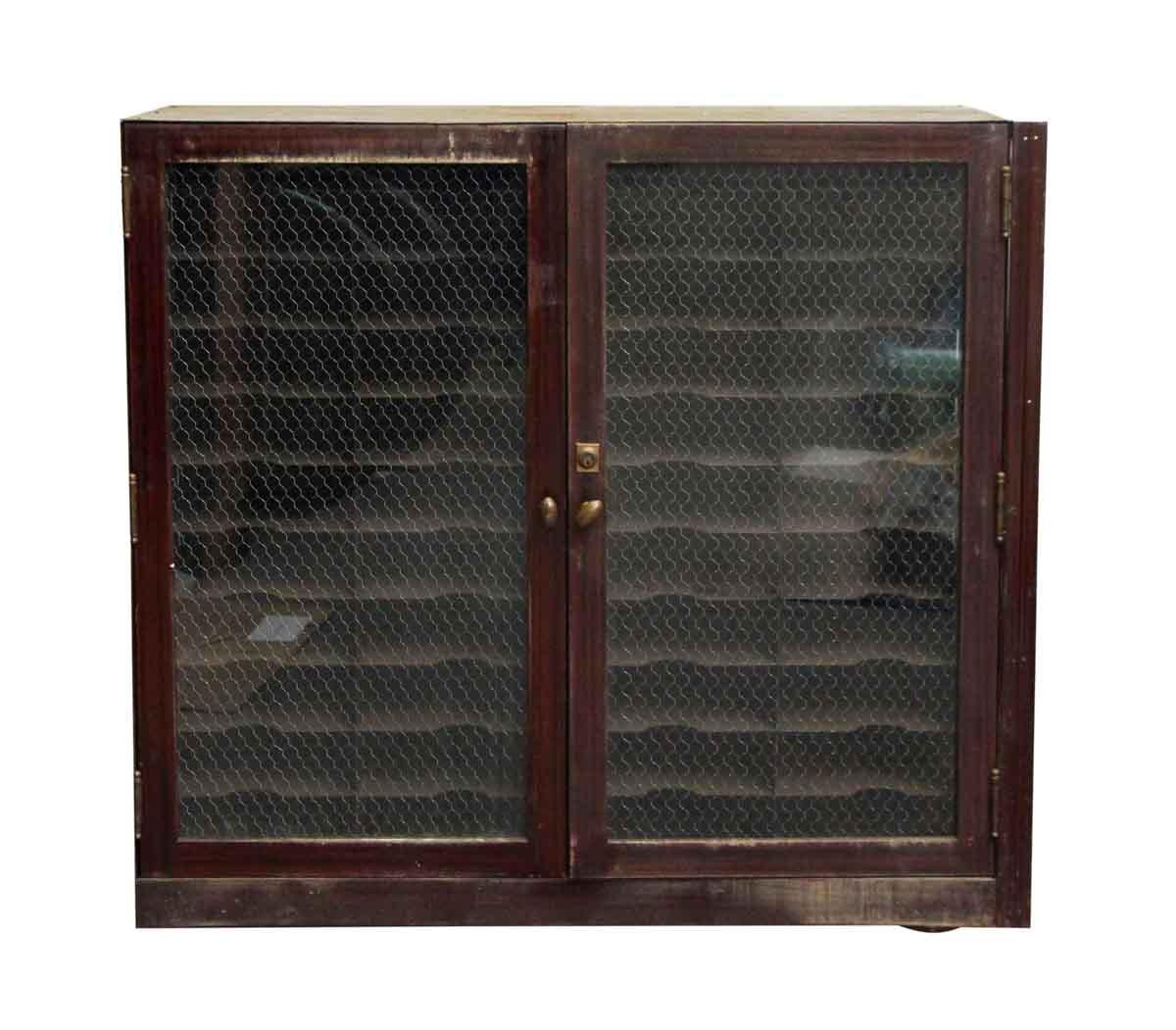 Chicken Wire Kitchen Cabinet Doors: Metal Cabinet With Chicken Wire Glass Doors