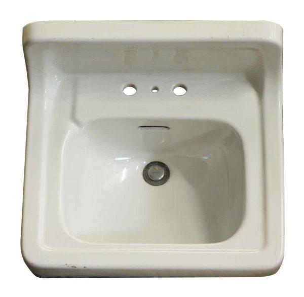 Ceramic Wall Mount White Sink