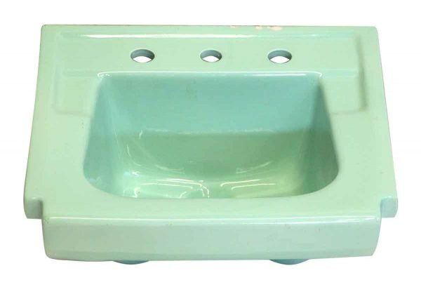 Sea Foam Green Wall Mount Ceramic Sink