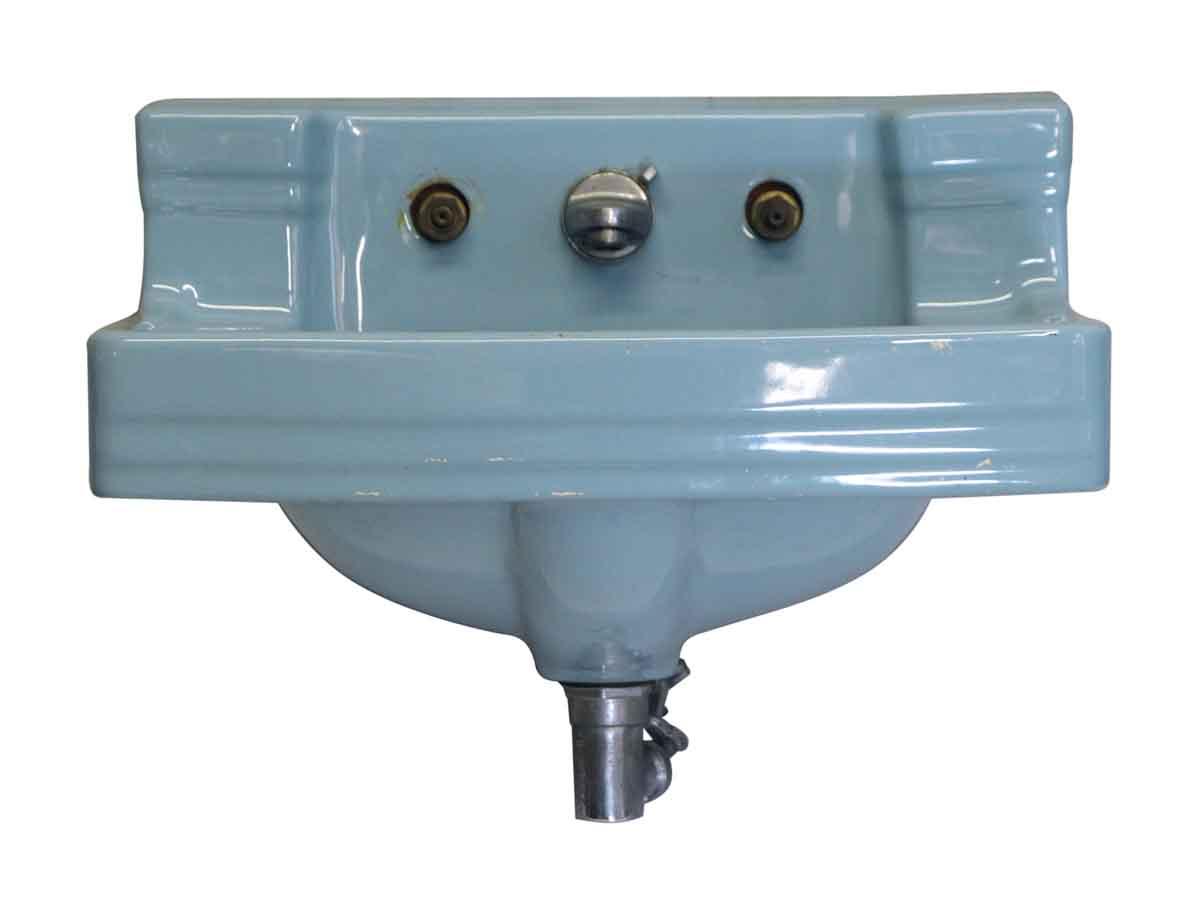 Retro Blue Vintage Ceramic Sink   Olde Good Things