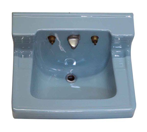 Retro Blue Vintage Ceramic Sink