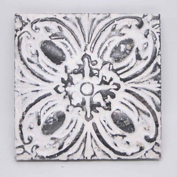 White Floral Tin Panel