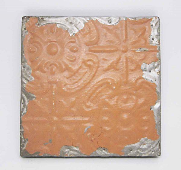 Decorative Orange Tin Panel