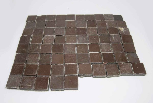 Set of 75 Brown Square Tiles