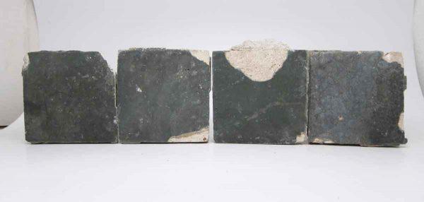 Set of Four Teal Grueby Tiles