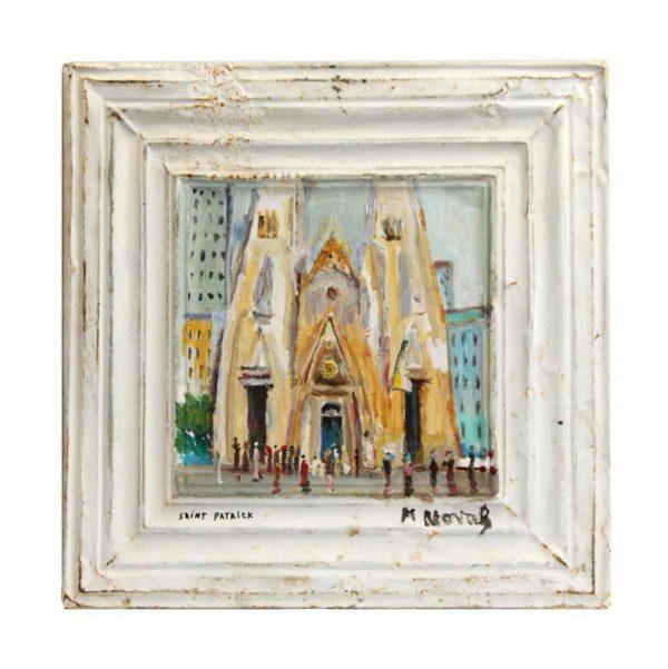Novak St. Patrick's Tin Panel Painting