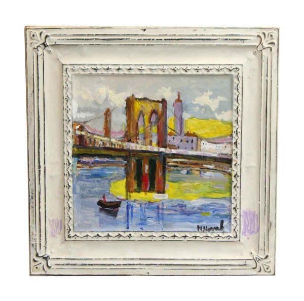 Bridge Tin Panel Painting by Novak