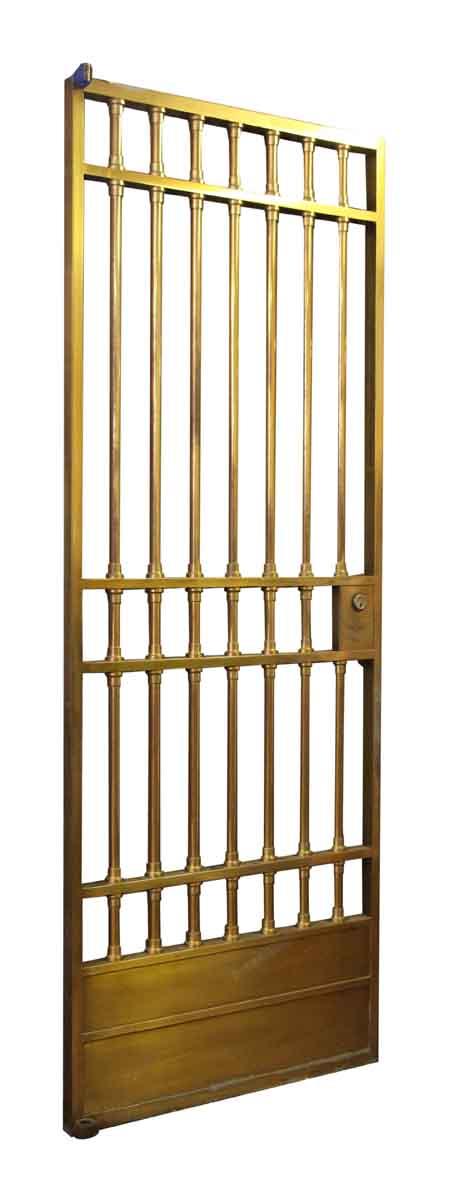 Brass Bank Door with Side Lights