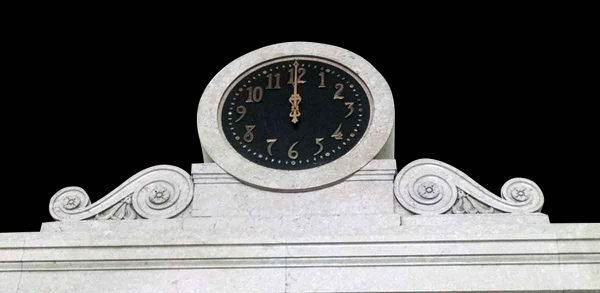 Marble Clock with Matching Corbels