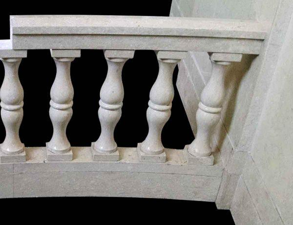Slightly Curved Marble Balustrade & Post Set