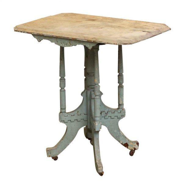 Antique Distressed Paint Tea Table