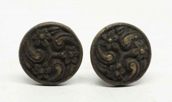 Pair of Round Brass Knobs