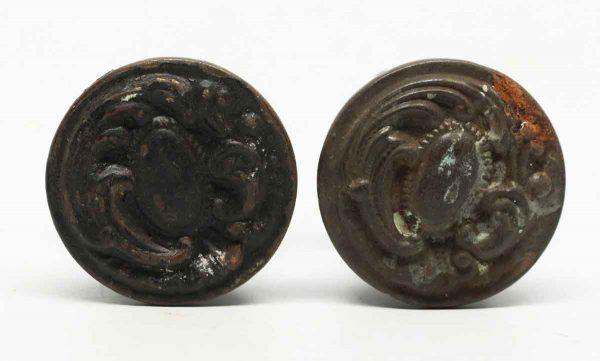 Pair of Art Nouvaeu Brass Knobs