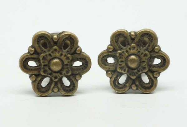 Set of Two Floral Small Cut Out Pulls
